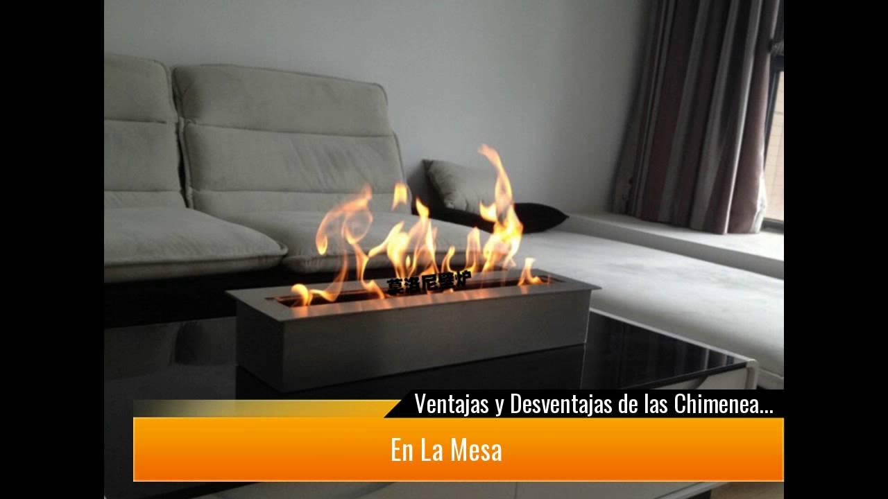 Ventajas y desventajas de las chimeneas bioetanol youtube - Chimenea de mesa ...