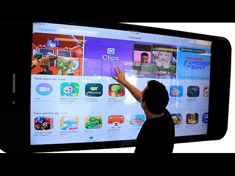 The Biggest iPad EVER PadZilla 90 inch Display