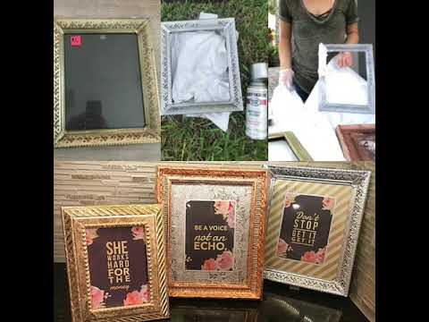 Rehab yard sale picture frames with silver leaf