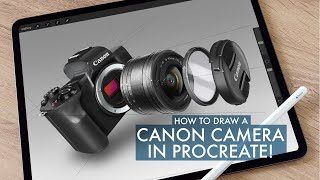 Product Design Sketching a Camera in Procreate