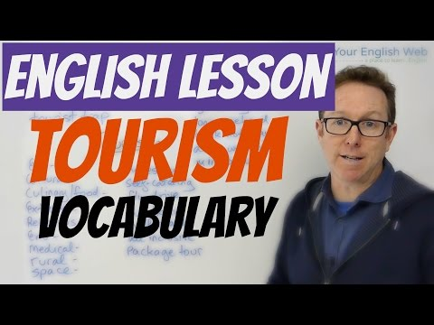 English lesson - Words to talk about TOURISM
