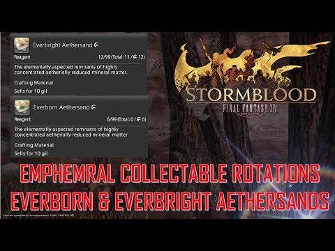 Final Fantasy XIV: SB - Emphemral Node Rotations For Everborn & Everbright Aethersands & Clusters
