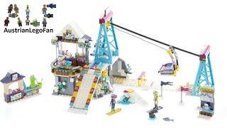 Lego Friends 41324 Snow Resort Ski Lift - Lego Speed Build Review