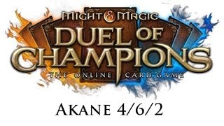 Might & Magic: Duel of Champions - Akane 4/6/2 open - Wombo combo vs. rush Nag!