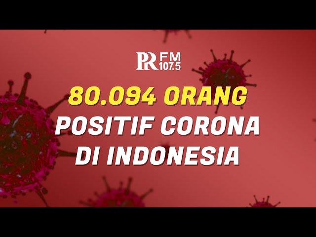 Update Corona di Indonesia 15 Juli 2020 : Total 80 Ribu Orang Positif