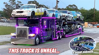 We Hired a Car Hauler and His Truck Was Cooler Than Our 1,500hp Burnout Cars... (INSANE Peterbilt)