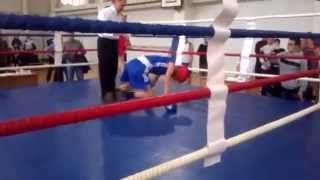 Любительский бокс жёсткий нокаут