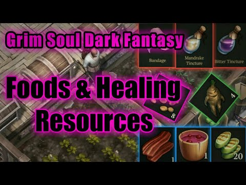 Grim Soul Dark Fantasy : #22 Foods & Healing Resources