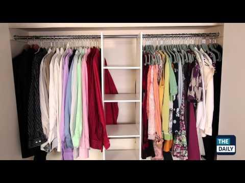 видео: Как недорого обустроить гардеробную комнату