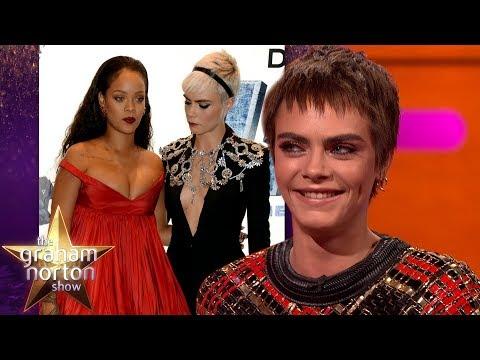 Cara Delevingne Couldn't Stop Staring at Rihanna | The Graham Norton Show