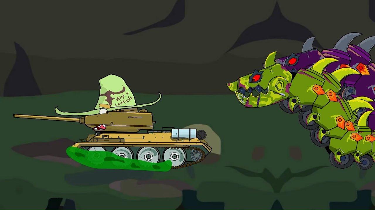 Т-34 в Пещера Монстра | мультики про танки | АМЕГА ТУНС | tank cartoons| AMEGA TOONS