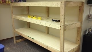 Building a Wooden Storage Shelf in the Basement