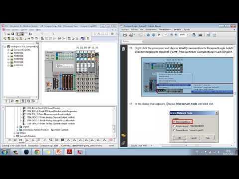 Tutorial del Lab.CompactLogix usando el sortware Integrated Architectural Builder.
