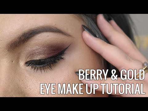 Berry & Gold Eye Make Up Tutorial // Sugar, Darling?