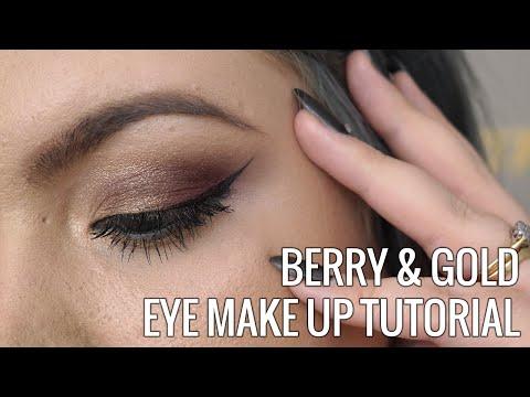 Berry & Gold Eye Make Up Tutorial // Sugar, Darling?
