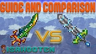 Influx Waver vs. Terra Blade // Guide and Comparison // Terraria 1.3.2 thumbnail