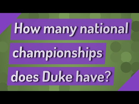 How Many National Championships Does Duke Have?