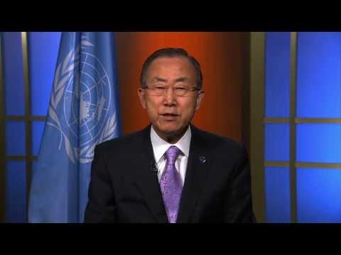 Ban Ki-moon, the UN Secretary General, supports Peace One Day