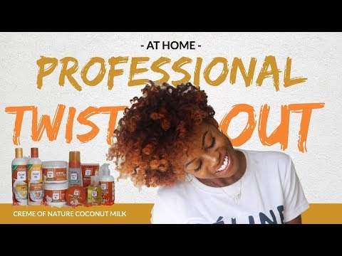 Professional Twist Out At Home??! | NEW Creme Of Nature Coconut Milk Collection!
