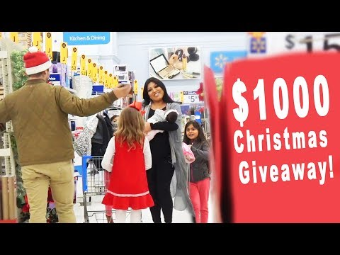 $1000 Christmas Giveaway to Strangers at Walmart!