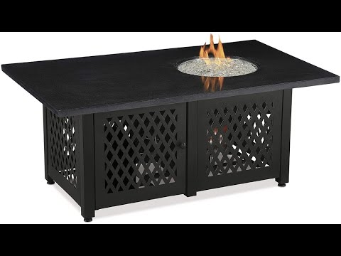 endless summer 54 inch dual heat patio heater propane gas fire pit combined table gad18100m