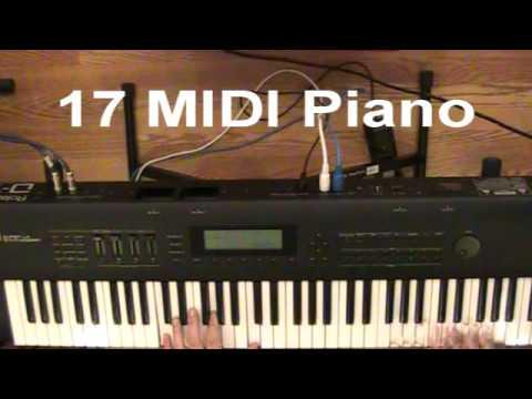 Roland D-70 demo - Performances 11-25