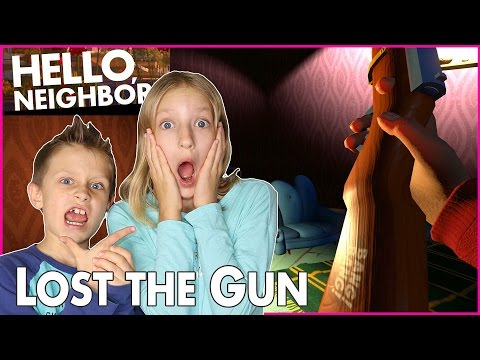 I Lost The Gun Forever / Hello Neighbor alpha 3 playing with RonaldOMG