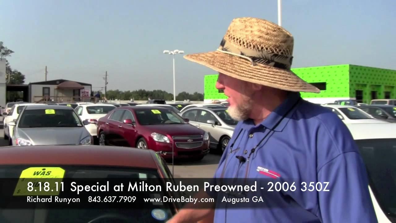 8 18 11 Milton Ruben Used Car Special 2006 350z Youtube