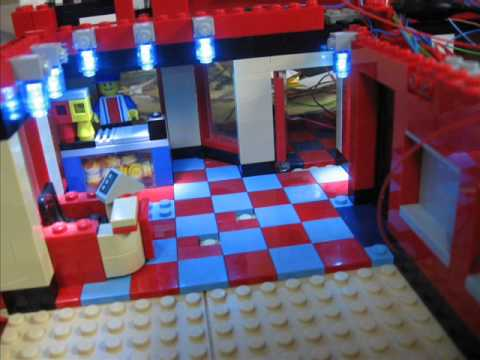 lego city kino cinema mit led beleuchtung youtube. Black Bedroom Furniture Sets. Home Design Ideas