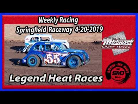 S03 E180 Legend Heat Races - Weekly Racing Springfield Raceway - 4-20-2019 #DirtTrackRacing