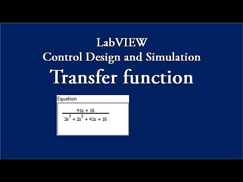 Transfer Function Control System Experiment Labview Youtube