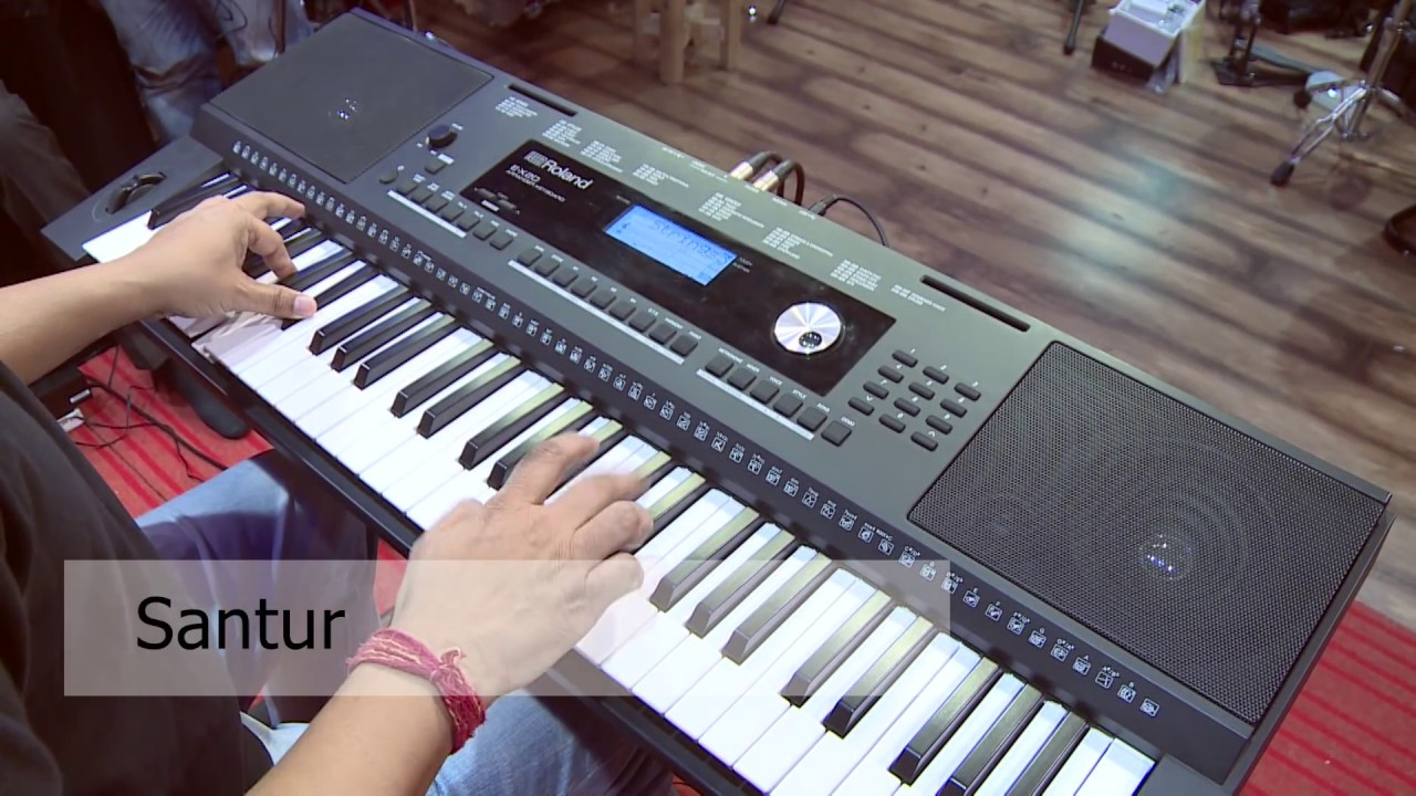15b63ee78aa Roland E-X20 Indian Tone Demo - YouTube