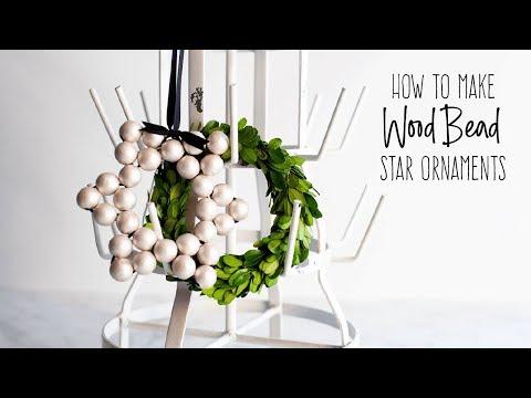DIY Wood Bead Star Ornaments