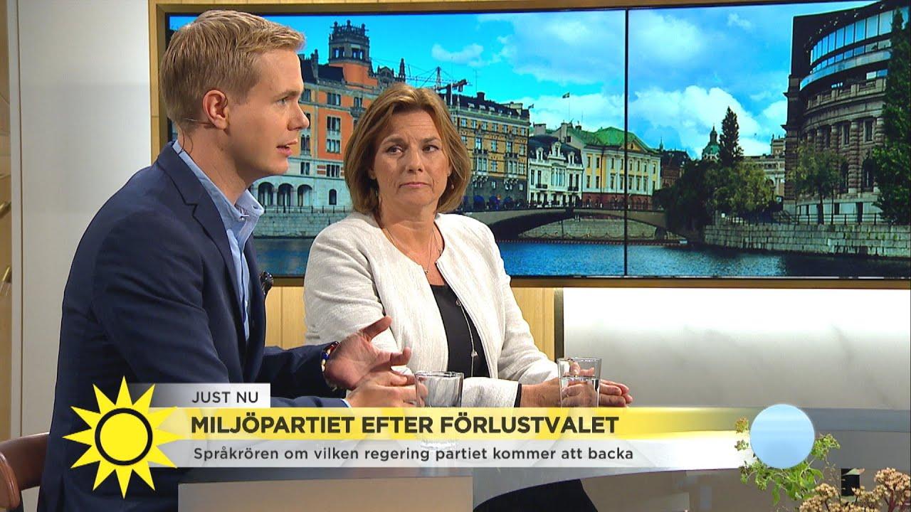 """Miljöpartiet efter förlustvalet: """"Det kostar att sitta i regering"""" - Nyhetsmorgon (TV4)"""
