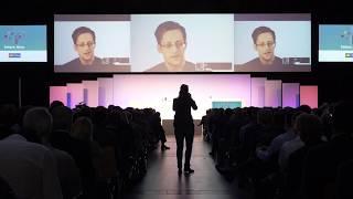 Edward Snowden spricht auf der JBFOne 2017