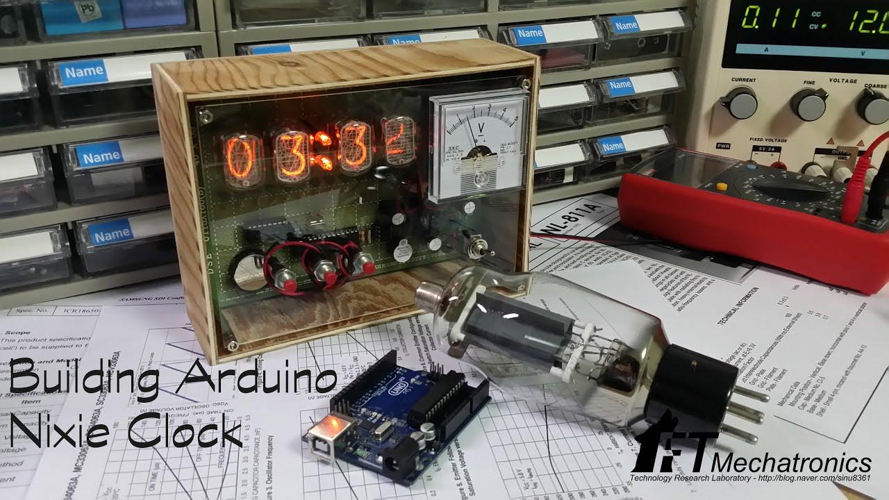 Building Arduino IN-12B tube Nixie Clock (Making Video)