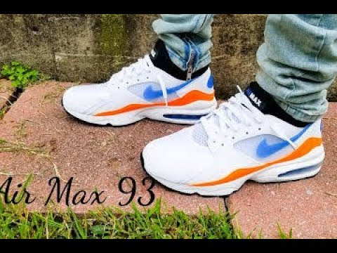 69cfcae490 Nike Air Max 93 Nebula Blue On Feet Review!!! - YouTube