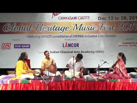 Kunnakudi M. Balamuralikrishna l Carnatic Vocal  l Global Heritage Music Fest 2017 l Web Streaming