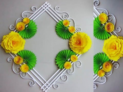 Simple Home Decor Wall Door Decoration Hanging Flower цветы из бумаги Paper Craft Ideas 9