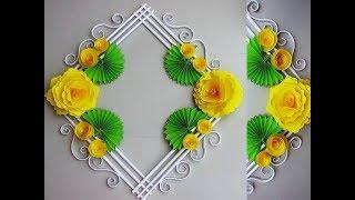DIY. Simple Home Decor. Wall, Door Decoration. Hanging Flower. цветы из бумаги. Paper Craft Ideas 9