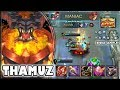 TOO AGGRESSIVE  [by 火┊ĄℜωεεĐ] THAMUZ BUILD & GAMEPLAY ~ TOP 1 GLOBAL ~ MOBILE LEGENDS Mp3