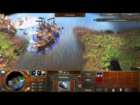 Age of Empires 3 - Campaign on Hard - Part 7 - Spanish treasure Fleet