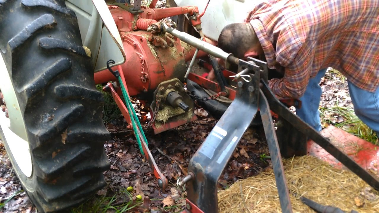 Ford 8n Tractor Attaching My Brush Hog Youtube