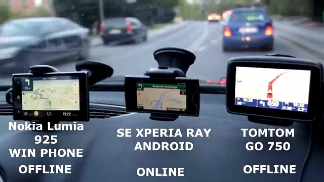 NAVI TEST - TomTom vs Android Google vs Nokia Lumia