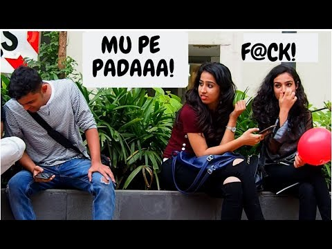 CUTE GIRLs  WET FART PRANK (MUMBAI) || TEAMBLADE