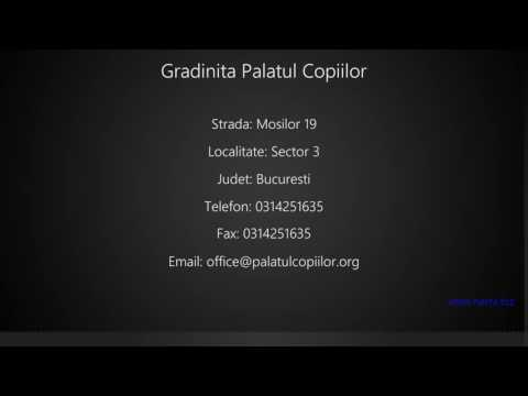 Gradinita Palatul Copiilor Sector 3 Youtube
