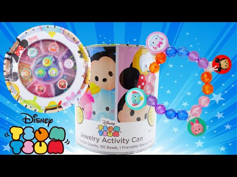 Disney TSUM TSUM Jewelry Activity Paint Can with Beads and Charms