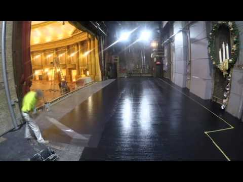 Al Ringling Theater - Painting Stage Floor 02-05-2016 .