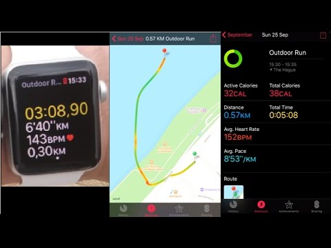 Apple Watch Running Workout New Statistics And GPS Route Demo - Running map distance tracker