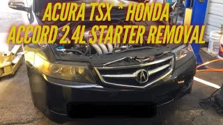 2006 Acura TSX / Honda Accord starter replacement